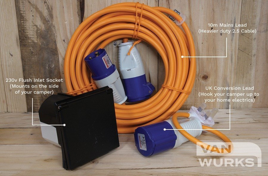 Mains flush mounted hook up kit (240v)