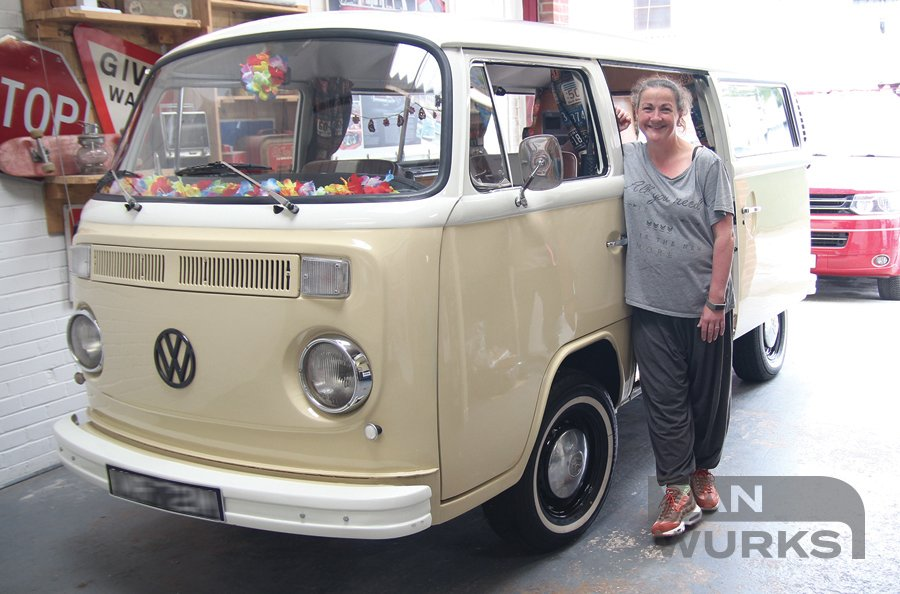 front view customer with t2campervan