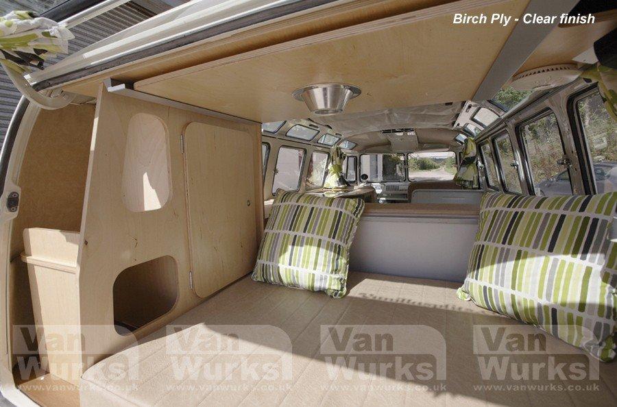rear internal view Splitscreen classic interior