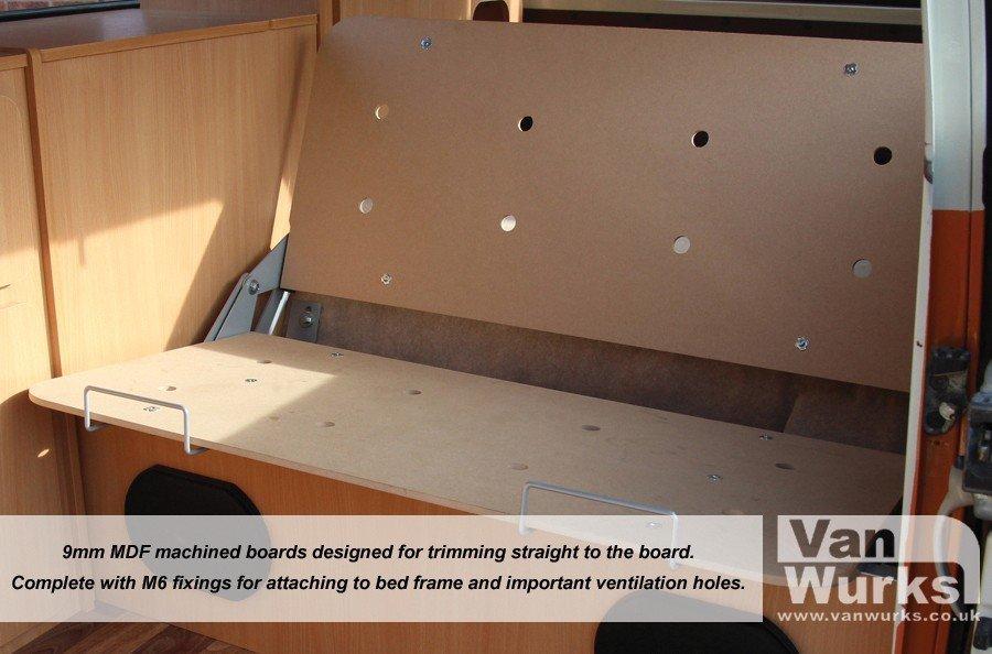 Mm easy trim mdf bed boards vanwurks vw camper interiors