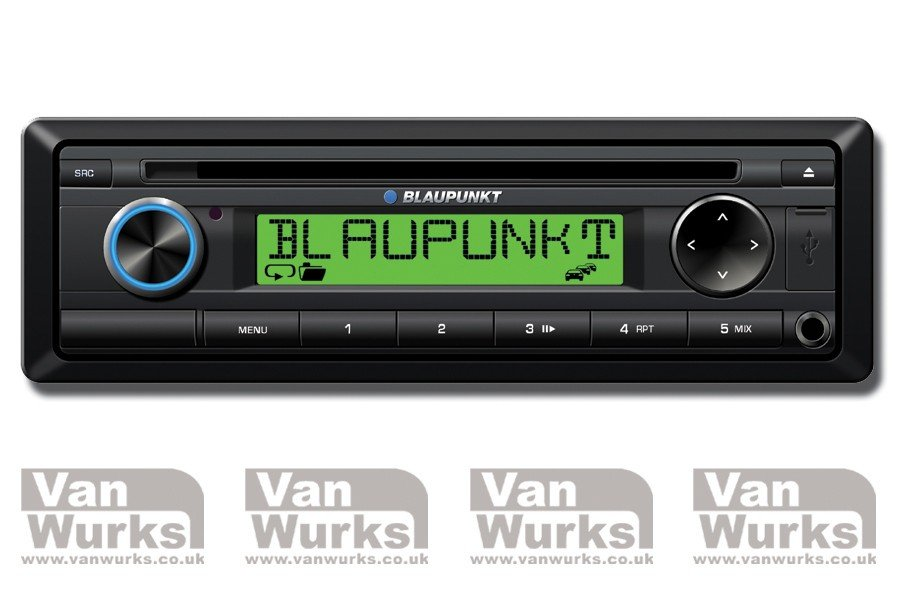 retro style Blaupunkt stereo front view