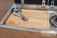 campervan sink chopping board left hand sink