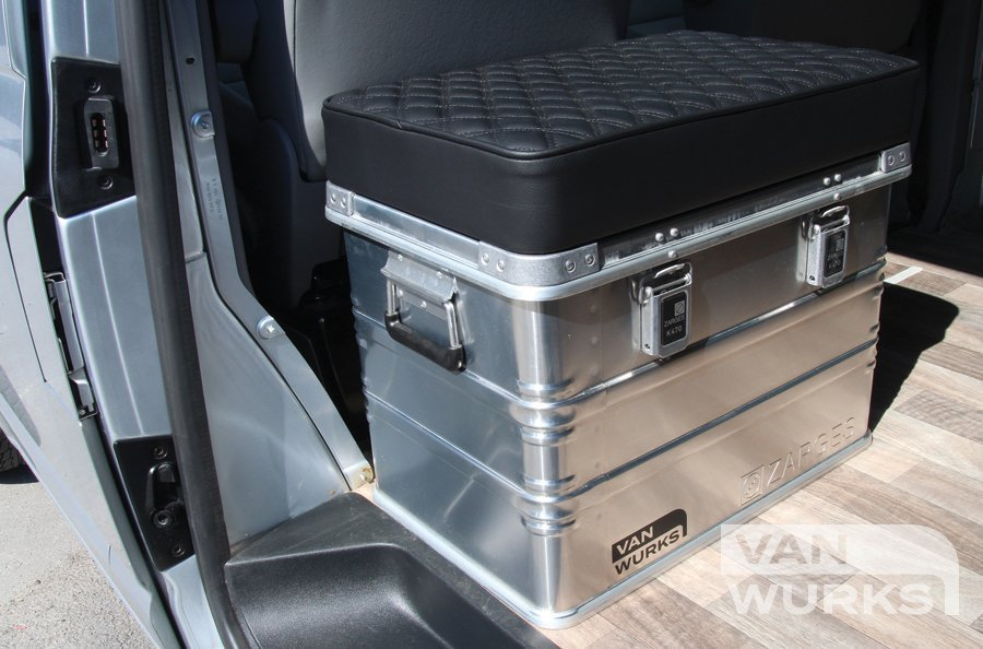Zarges K470 cargo box buddy seat for VW Camper T2 T3 T5 T6